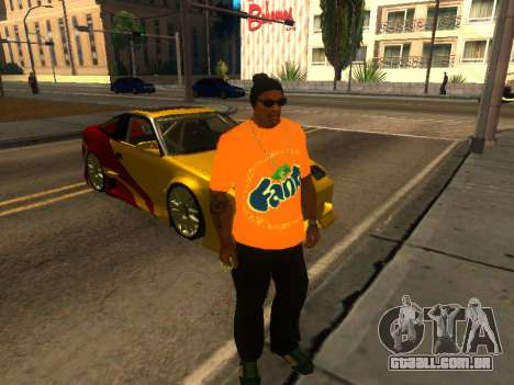T-Shirt Fanta para GTA San Andreas segunda tela