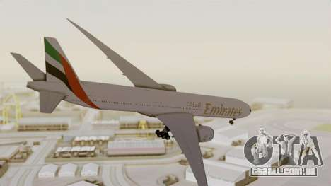 Boeing 777-9x Emirates Airlines para GTA San Andreas vista direita