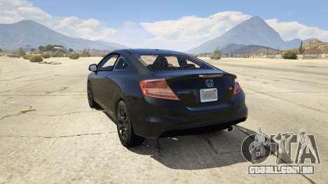 GTA 5 Honda Civic SI traseira vista lateral esquerda