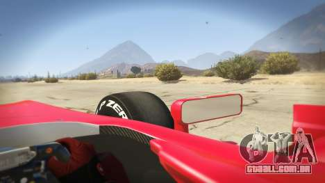 GTA 5 Ferrari F1 traseira direita vista lateral