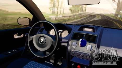 Renault Megane CPJ para GTA San Andreas vista traseira