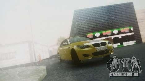 BMW m5 e60 Gold para GTA San Andreas esquerda vista
