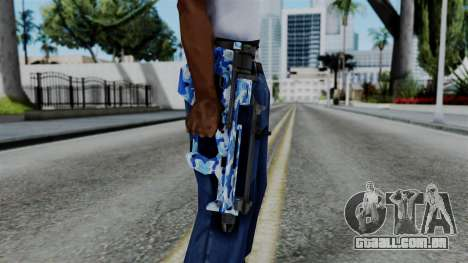 CoD Black Ops 2 - PDW-57 Camo Blue para GTA San Andreas terceira tela