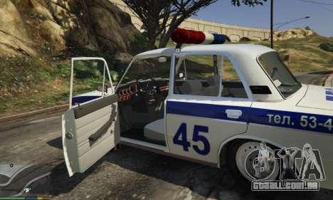 GTA 5 VAZ 2106 Polícia vista lateral esquerda