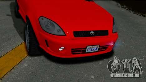 GTA 5 Declasse Premier Coupe IVF para GTA San Andreas vista traseira