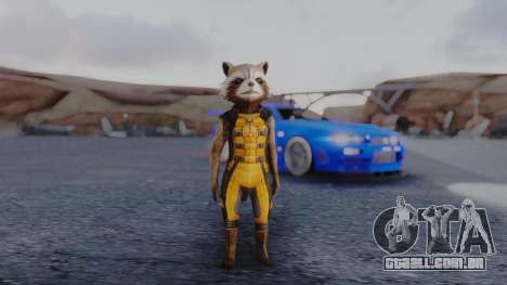 Marvel Future Fight - Rocket Raccon para GTA San Andreas segunda tela