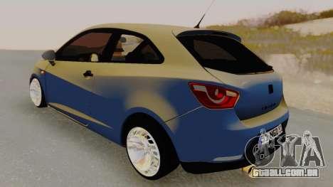 Seat Ibiza para GTA San Andreas traseira esquerda vista