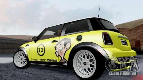 Mini John Cooper Works Mr.Bean para GTA San Andreas esquerda vista