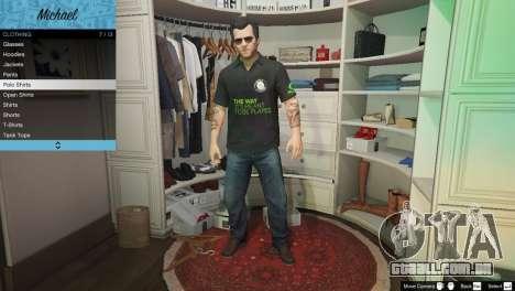 Nvidia camisa Polo para Michael para GTA 5