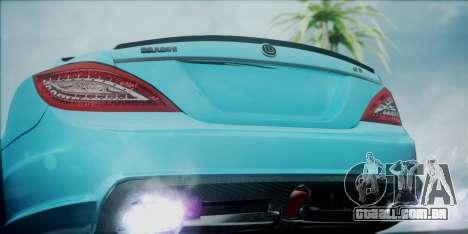 Mercedes-Benz CLS 63 BRABUS para GTA San Andreas vista traseira
