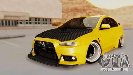 Mitsubishi Lancer Evolution X Stance para GTA San Andreas