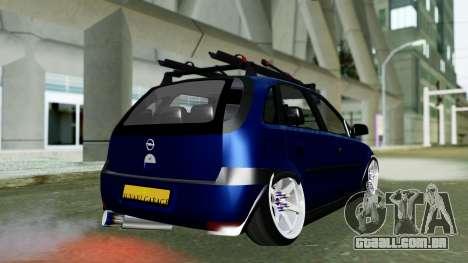 Opel Corsa C para GTA San Andreas esquerda vista