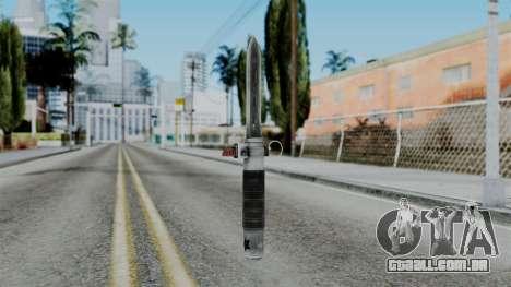 CoD Black Ops 2 - Balistic Knife para GTA San Andreas segunda tela