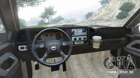 GTA 5 Chevrolet Suburban GMT400 traseira direita vista lateral