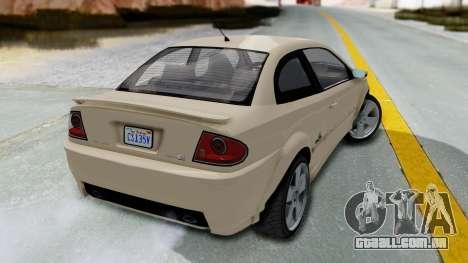 GTA 5 Declasse Premier IVF para GTA San Andreas esquerda vista