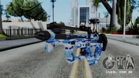 CoD Black Ops 2 - PDW-57 Camo Blue para GTA San Andreas