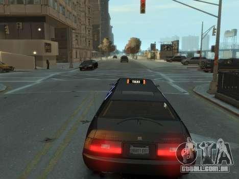 Taxi STRECH para GTA 4 traseira esquerda vista