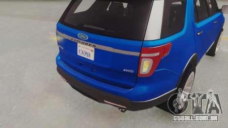 Ford Explorer para GTA San Andreas vista traseira