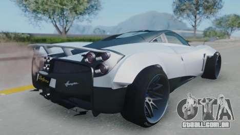 Pagani Huayra LB Performance para GTA San Andreas esquerda vista