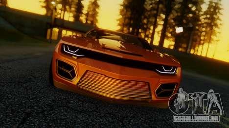 Chevrolet Camaro DOSH Tuning v2 para GTA San Andreas traseira esquerda vista