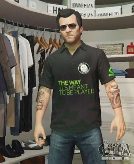 GTA 5 Nvidia camisa Polo para Michael terceiro screenshot