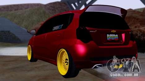 Chevrolet Aveo Stance para GTA San Andreas esquerda vista