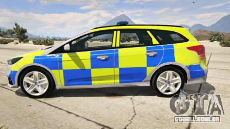 2015 Police Ford Focus ST Estate para GTA 5