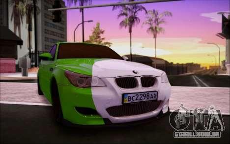 BMW m5 e60 Verdura para GTA San Andreas vista interior