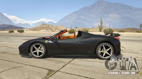 GTA 5 Ferrari 458 Mansory Siracusa Monaco Edition vista lateral esquerda