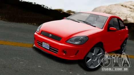 GTA 5 Declasse Premier Coupe IVF para GTA San Andreas traseira esquerda vista