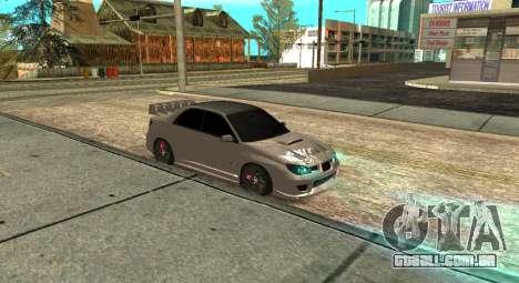 Subaru Impreza WRX STi 2007 para GTA San Andreas vista traseira
