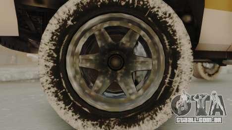 GTA 4 Declasse Rancher IVF para GTA San Andreas traseira esquerda vista
