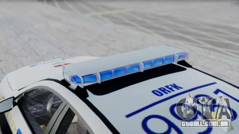 BMW M5 F10 Hungarian Police Car para GTA San Andreas traseira esquerda vista