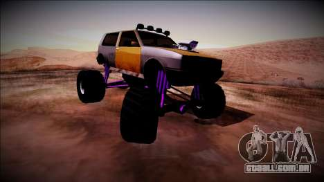 Club Monster Truck para GTA San Andreas traseira esquerda vista