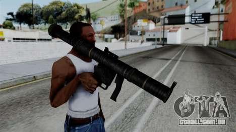 CoD Black Ops 2 - SMAW para GTA San Andreas terceira tela
