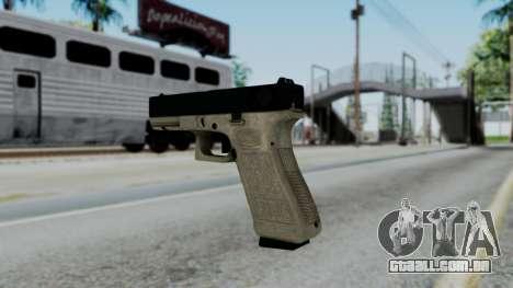 Glock 18 Sand Frame para GTA San Andreas segunda tela