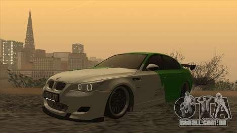 BMW m5 e60 Verdura para GTA San Andreas esquerda vista