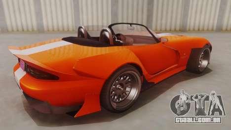 GTA 5 Bravado Banshee 900R para GTA San Andreas traseira esquerda vista