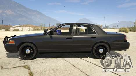 GTA 5 FBI Ford CVPI vista lateral esquerda