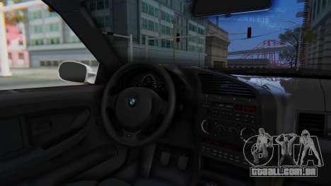 BMW 320i E36 MPower para GTA San Andreas vista traseira