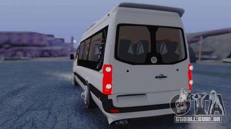 Volkswagen Crafter 2015 para GTA San Andreas traseira esquerda vista
