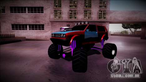 Club Monster Truck para GTA San Andreas vista inferior