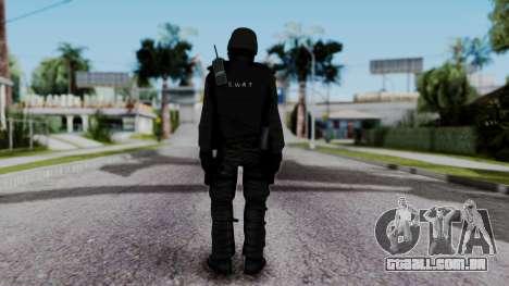 Black SWAT para GTA San Andreas terceira tela