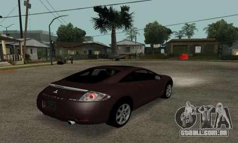 Mitsubishi Eclipse GT para GTA San Andreas traseira esquerda vista
