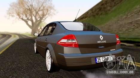 Renault Megane CPJ para GTA San Andreas esquerda vista