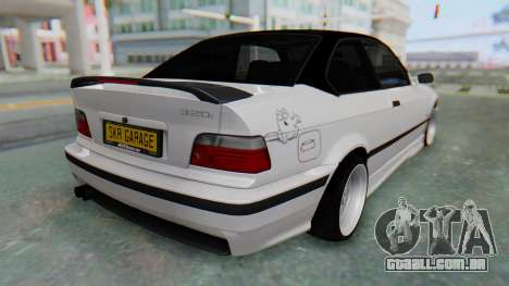 BMW 320i E36 MPower para GTA San Andreas esquerda vista