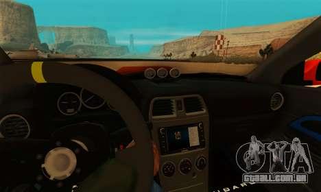 Subaru Impreza WRX STi LP 400 para GTA San Andreas vista traseira