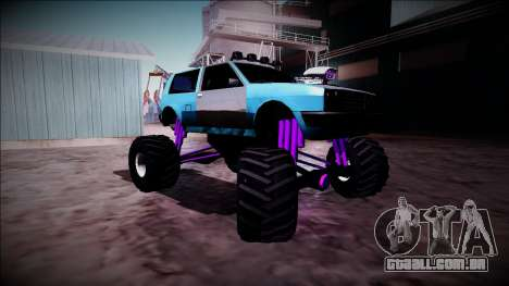 Club Monster Truck para GTA San Andreas vista traseira