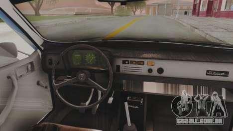 Dacia 1310 TX 1984 para GTA San Andreas vista traseira