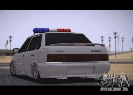 VAZ 2115 Hobo para GTA San Andreas traseira esquerda vista